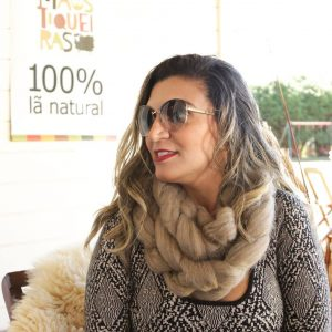 Gola ou cachecol em tricot gigante